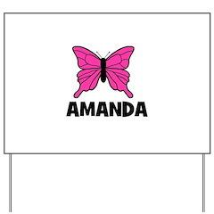 Butterfly - Amanda Yard Sign