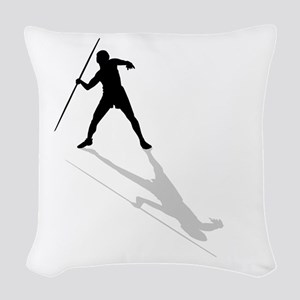 Javelin Thrower Woven Throw Pillow