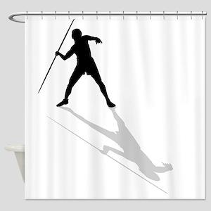 Javelin Thrower Shower Curtain