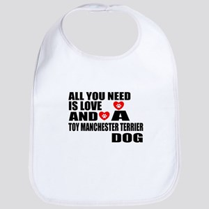 All You Need Is Love Toy Mancheste Cotton Baby Bib