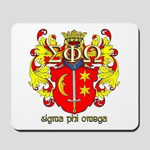 Sigma Phi Omega Crest Mousepad