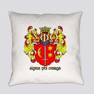 Sigma Phi Omega Crest Everyday Pillow