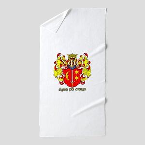 Sigma Phi Omega Crest Beach Towel