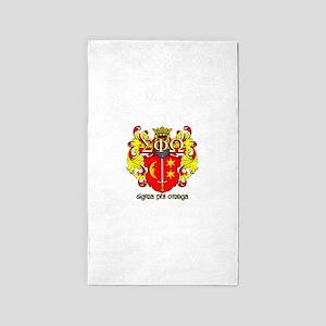 Sigma Phi Omega Crest Area Rug