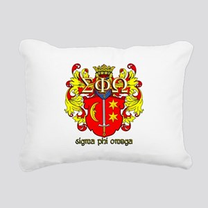 Sigma Phi Omega Crest Rectangular Canvas Pillow