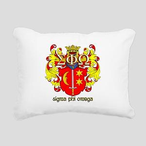 Sigma Phi Omega Crest Rectangular Canvas Pillow