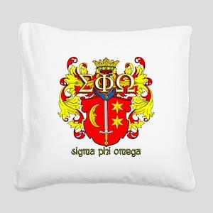 Sigma Phi Omega Crest Square Canvas Pillow