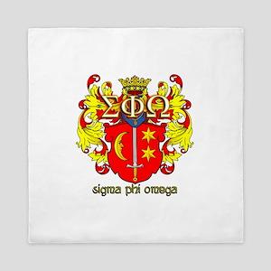 Sigma Phi Omega Crest Queen Duvet