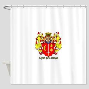 Sigma Phi Omega Crest Shower Curtain