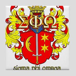 Sigma Phi Omega Crest Tile Coaster