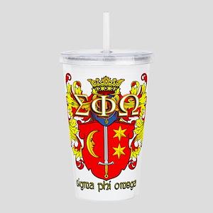 Sigma Phi Omega Crest Acrylic Double-wall Tumbler