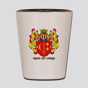 Sigma Phi Omega Crest Shot Glass