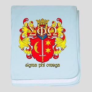 Sigma Phi Omega Crest baby blanket