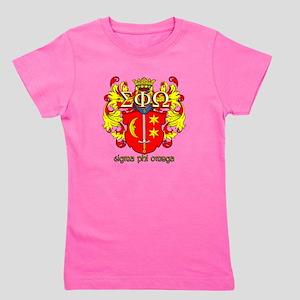 Sigma Phi Omega Crest Girl's Tee