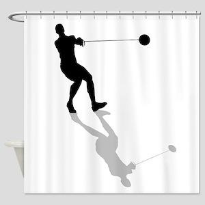 Hammer Throw Shower Curtain