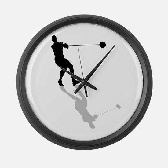 Hammer Throw Large Wall Clock