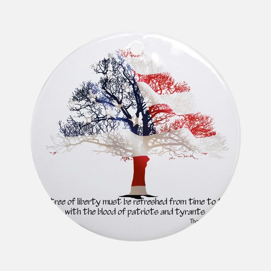 Tree Of Liberty Round Ornament