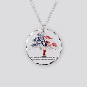 Tree Of Liberty Necklace Circle Charm