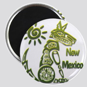 NM Coyote Spiral Sun Green Magnet