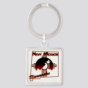 NM Coyote Silhouette Square Keychain