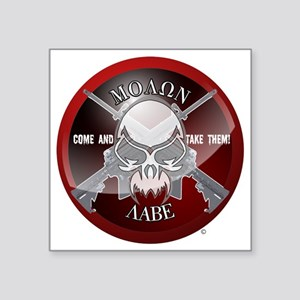 "Molon Labe Square Sticker 3"" x 3"""