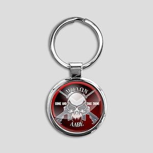 Molon Labe Round Keychain