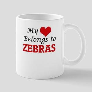 My heart belongs to Zebras Mugs