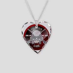 Molon Labe Necklace Heart Charm
