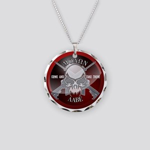 Molon Labe Necklace Circle Charm