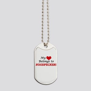 My heart belongs to Woodpeckers Dog Tags