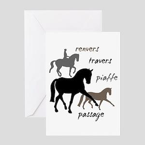 Dressage Movements Trio Greeting Card
