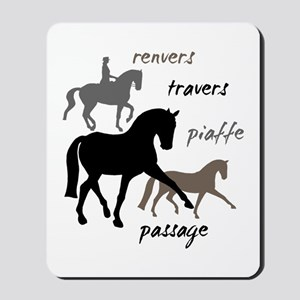 Dressage Movements Trio Mousepad
