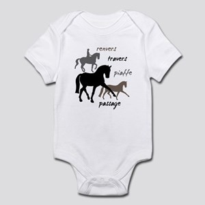 Dressage Movements Trio Infant Bodysuit