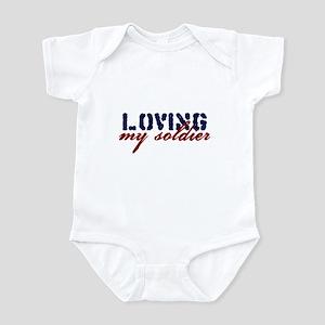 Loving My Soldier Infant Bodysuit