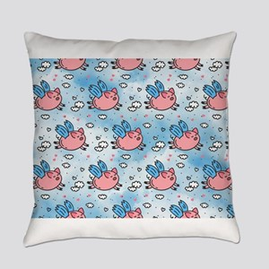 flying pigs Everyday Pillow