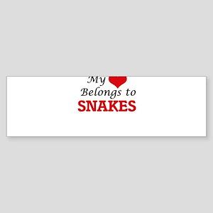 My heart belongs to Snakes Bumper Sticker