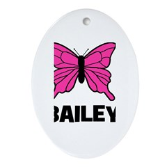 Butterfly - Bailey Oval Ornament