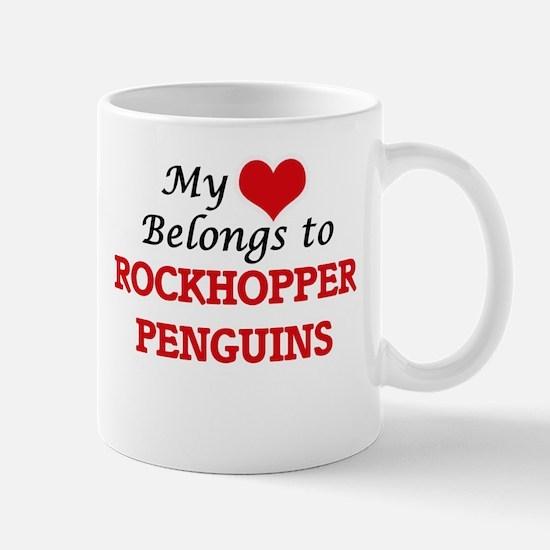 My heart belongs to Rockhopper Penguins Mugs