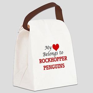 My heart belongs to Rockhopper Pe Canvas Lunch Bag