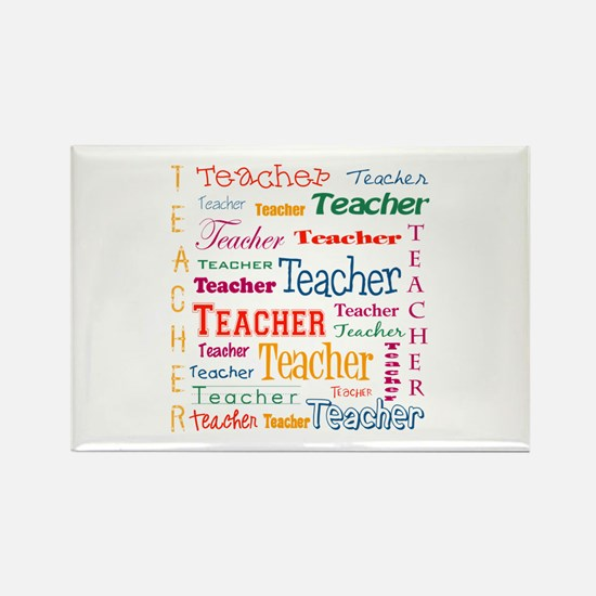 Teacher Teacher Teacher Rectangle Magnet (100 pack