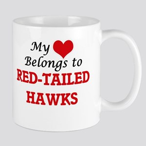 My heart belongs to Red-Tailed Hawks Mugs