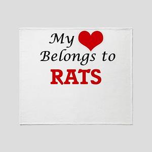 My heart belongs to Rats Throw Blanket
