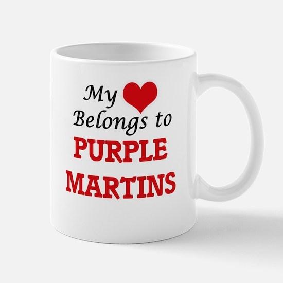 My heart belongs to Purple Martins Mugs