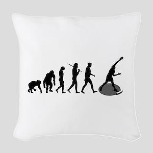 Shot Put Evolution Woven Throw Pillow