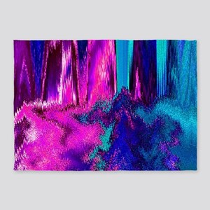 Melted Glitch (Pink & Teal) 5'x7'Area Rug