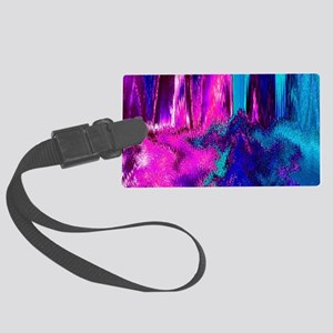 Melted Glitch (Pink & Teal) Luggage Tag