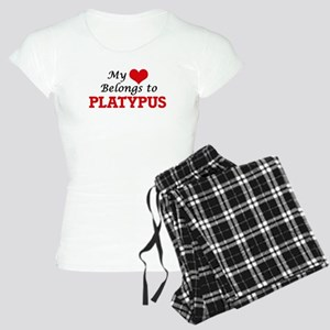 My heart belongs to Platypu Women's Light Pajamas