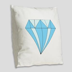 Diamond Dozen Burlap Throw Pillow