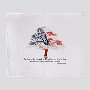 Tree Of Liberty Throw Blanket