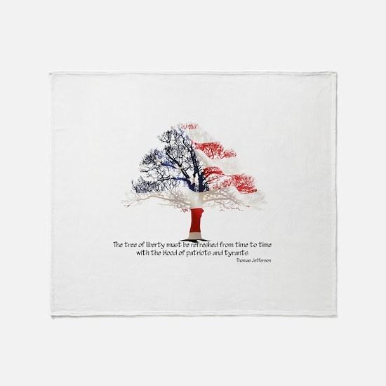 Tree Of Liberty Throw Blanket
